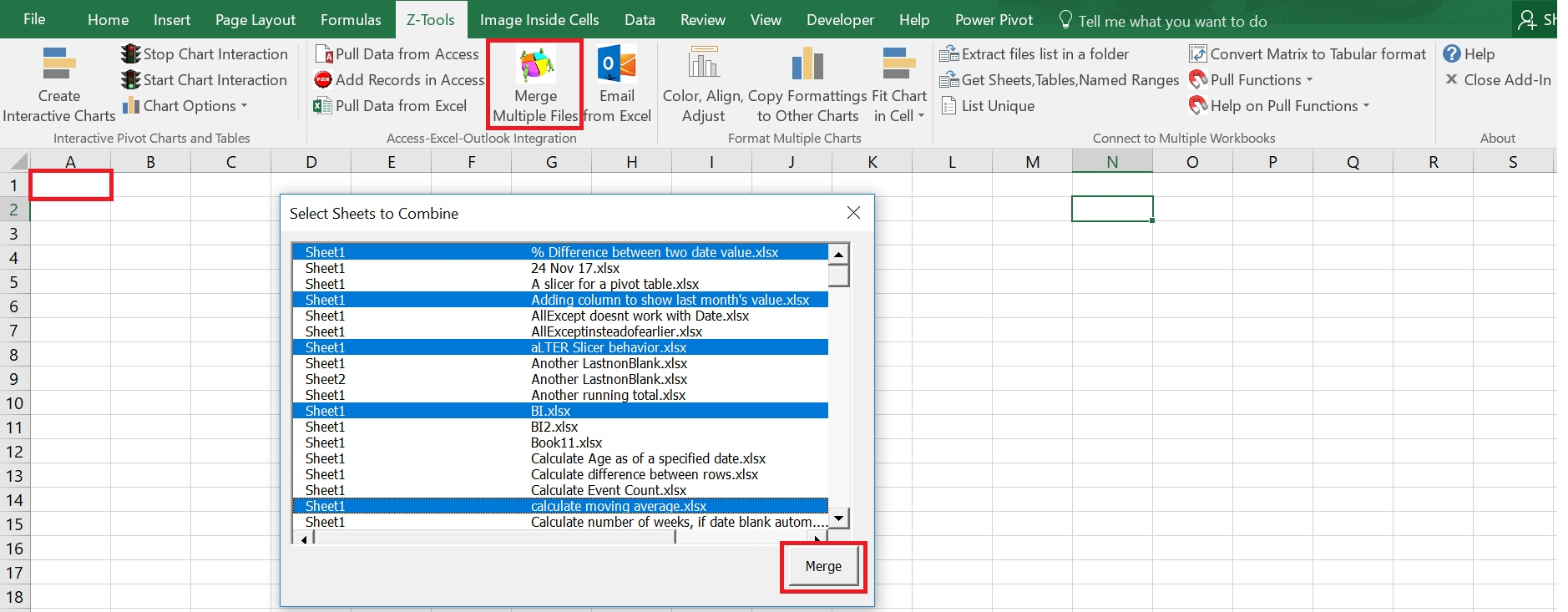 Workbooks merge excel sheets into one workbook : Combine Multiple Workbooks – Excel & Access – A perfect team