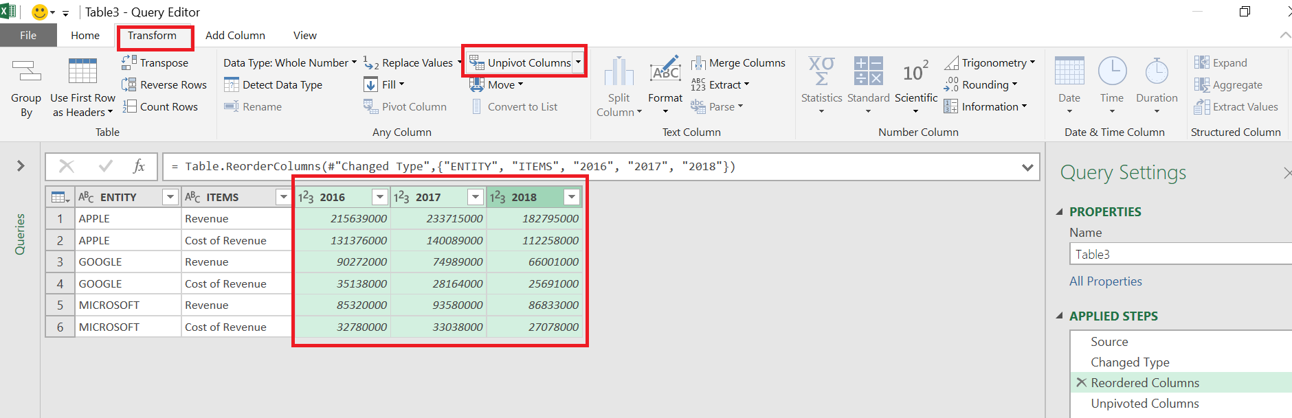 Adding Calculated Row / Calculated Items Using Power Query