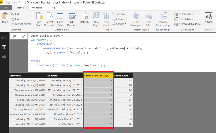 Count only Working Days between 2 Dates – Excel & Access – A